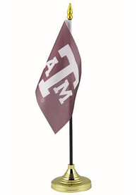 Texas A&M Aggies 4x6 Silk Screen Desk Flag