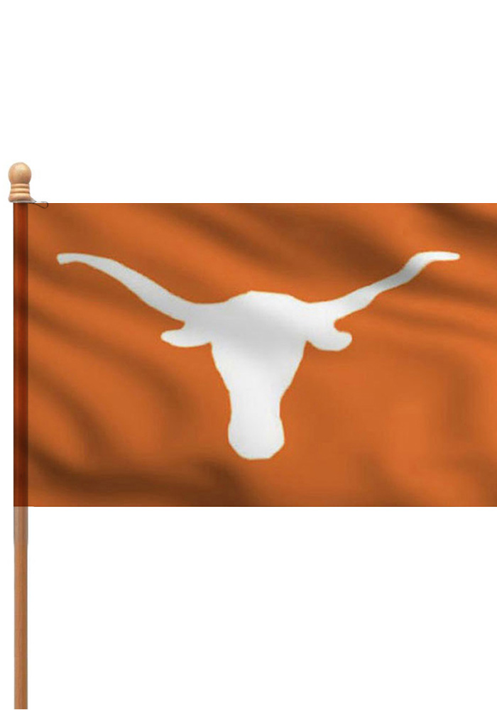 Texas Longhorns 3x5 Orange Sleeve Applique Flag - Image 1