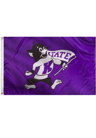 K-State Wildcats 3x5 Purple Grommet Purple Silk Screen Grommet Flag
