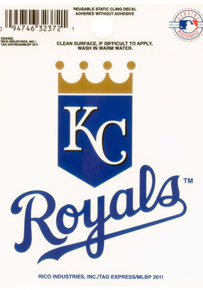 Kansas City Royals Small Auto Static Cling - Image 1