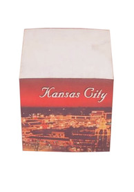 Local Kansas City Gifts Note Cube Holder Notepad