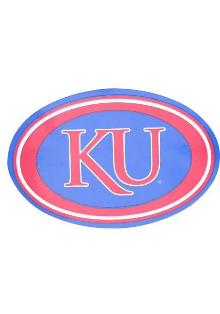 Kansas Jayhawks Auto Decal - Blue - Image 1