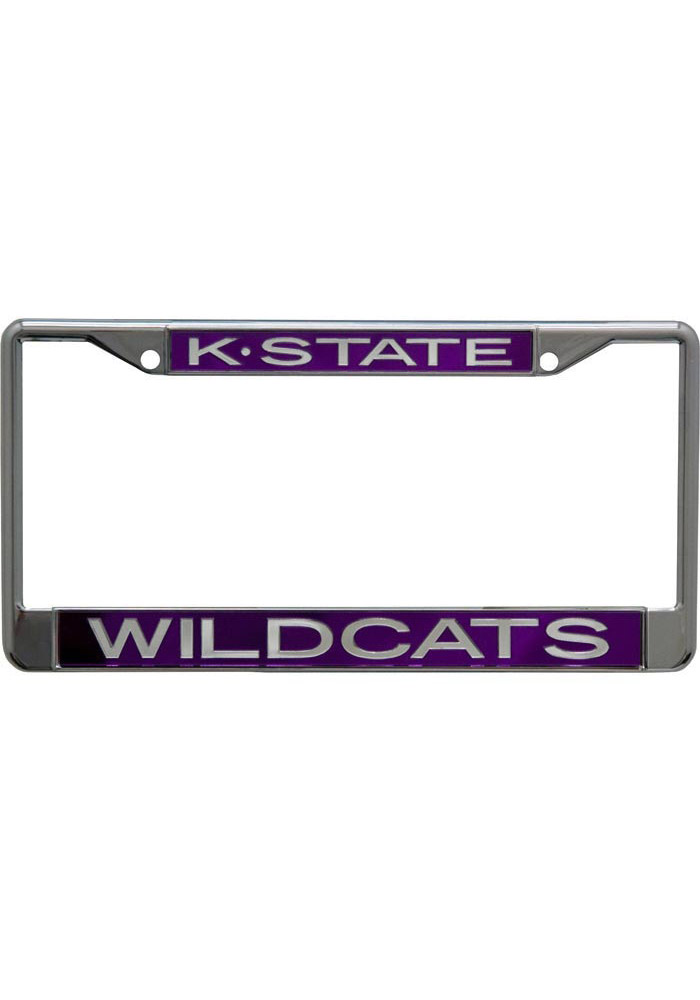 K-State Wildcats Chrome License Frame - Image 1