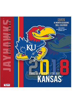 Kansas Jayhawks 2018 12x12 Team Wall Calendar