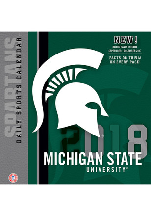 Michigan State Spartans 2018 Daily Box Calendar