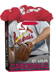 St Louis Cardinals Large Red Gift Bag