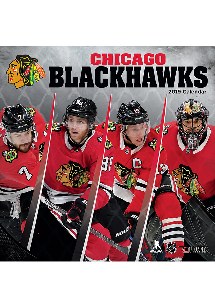 Chicago Blackhawks 2019 Wall Calendar - Image 1