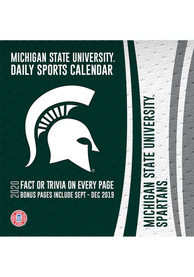 Groovy Michigan State Spartans 2020 Box Calendar Home Interior And Landscaping Palasignezvosmurscom