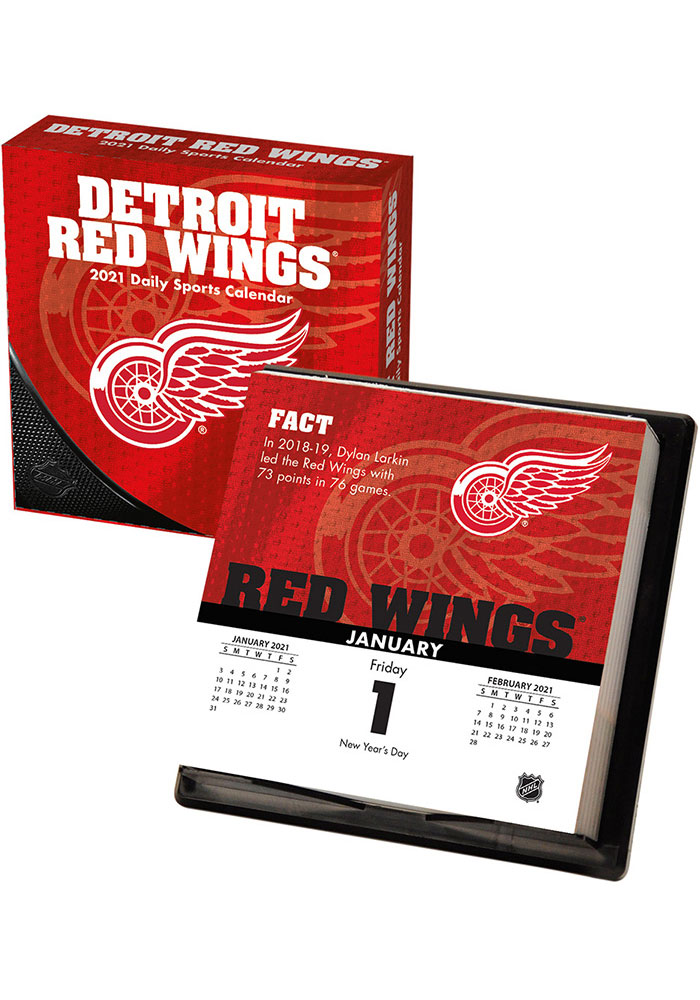Detroit Red Wings 2021 Boxed Daily Calendar - Image 1