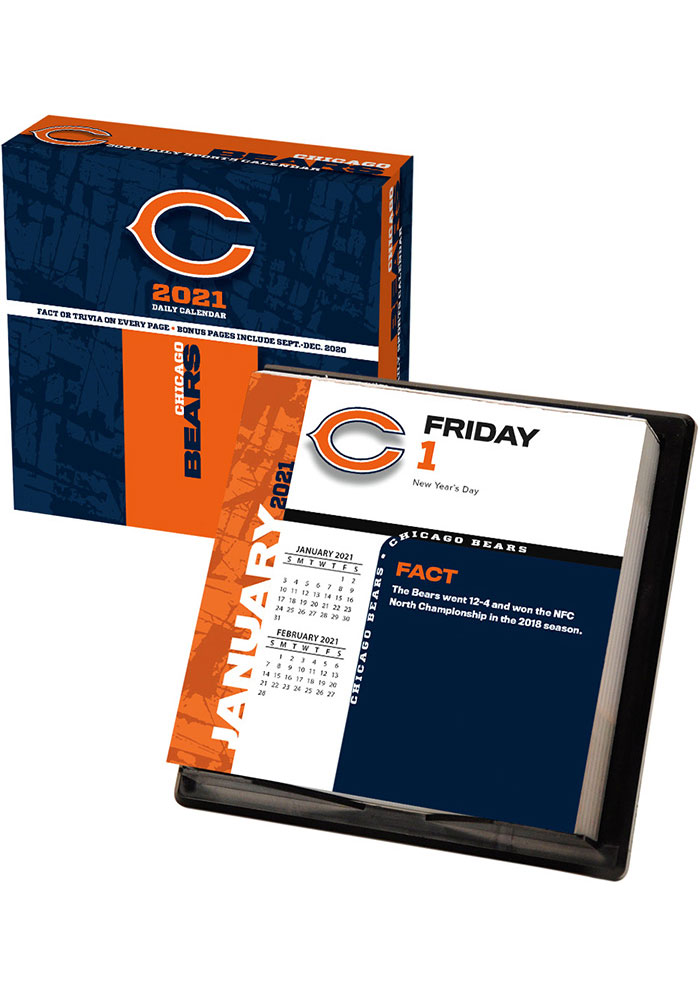 Chicago Bears 2021 Boxed Daily Calendar - Image 1