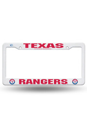 Texas Rangers Plastic White Car Accessory License Frame