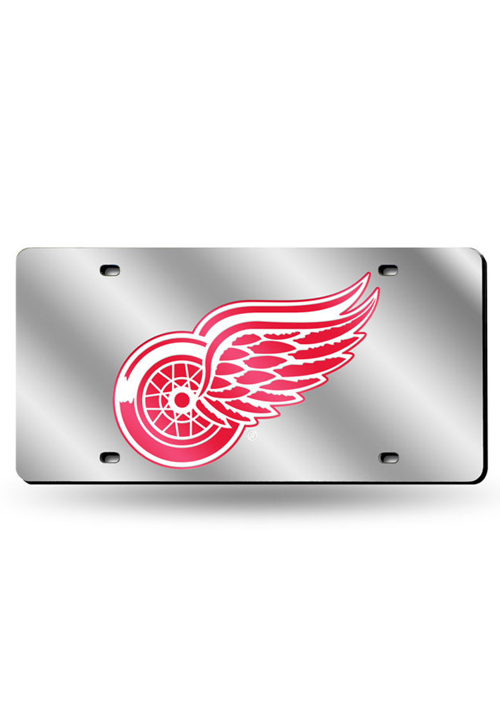 Detroit Red Wings Silver Car Accessory License Plate - Image 1