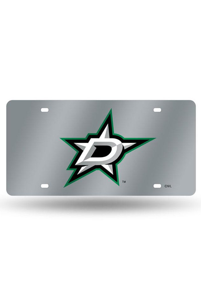 Dallas Stars Silver Car Accessory License Plate - Image 1