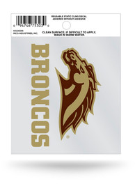 Western Michigan Broncos Small Auto Static Cling