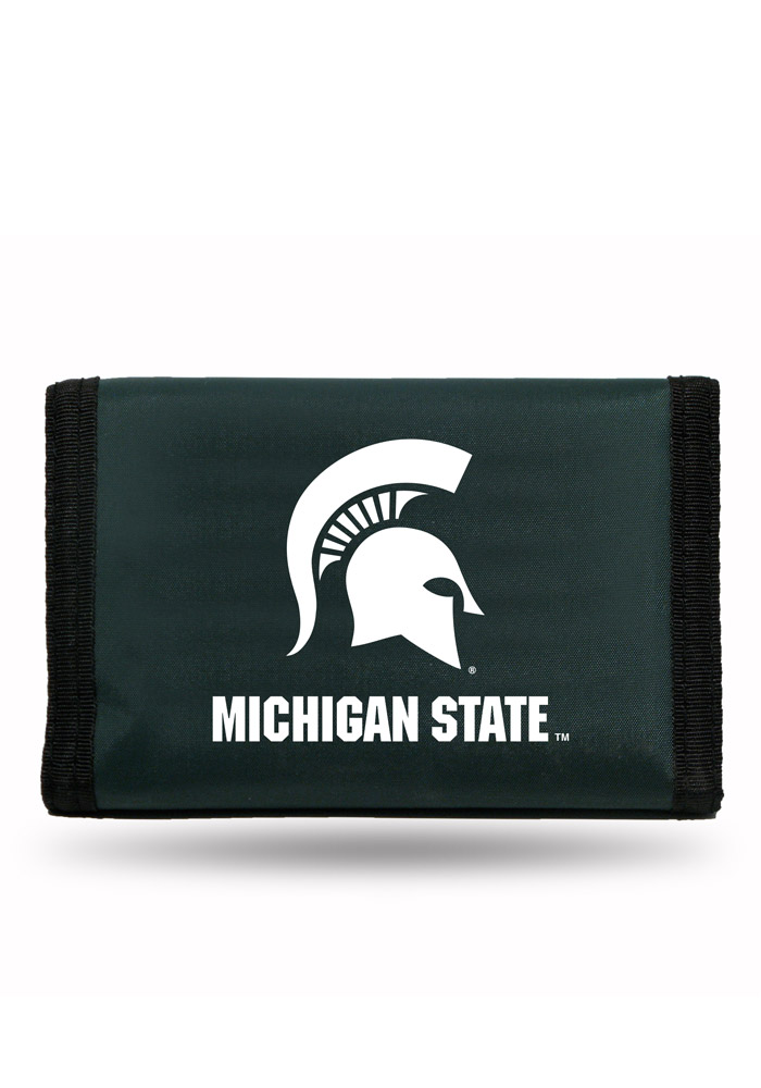 Michigan State Spartans Nylon Mens Trifold Wallet - Image 1