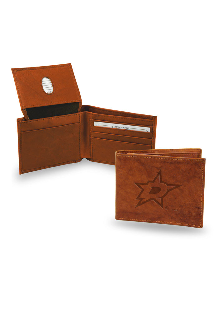 Dallas Stars Manmade Leather Bifold Wallet - Brown
