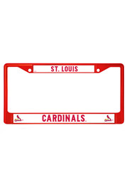 St Louis Cardinals Red Chrome License Frame
