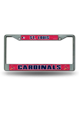 st louis cardinals bling chrome license frame