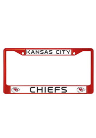 Kansas City Chiefs Red Chrome License Frame
