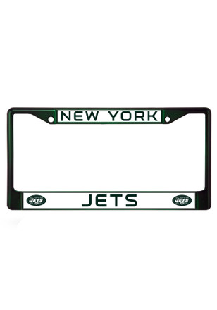 New York Jets Green Chrome Car Accessory License Frame