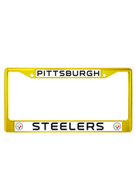 Pittsburgh Steelers Yellow Chrome License Frame