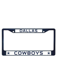 Dallas Cowboys Navy Colored Chrome License Frame