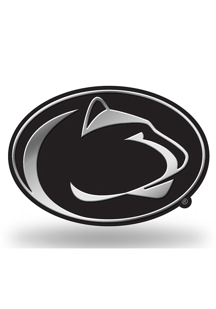 Penn State Nittany Lions Molded Plastic Car Emblem - Silver - Image 1