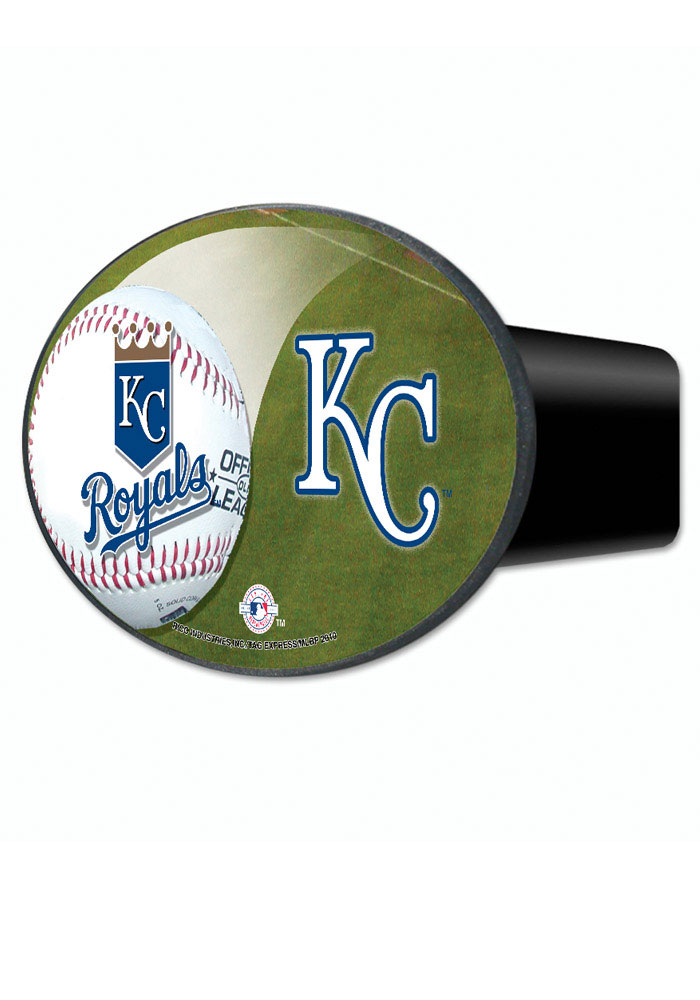 Kansas City Royals Blue 3 in 1 Car Accessory Hitch Cover - Image 1