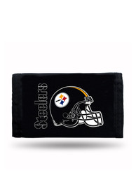 Pittsburgh Steelers Nylon Trifold Wallet - Black