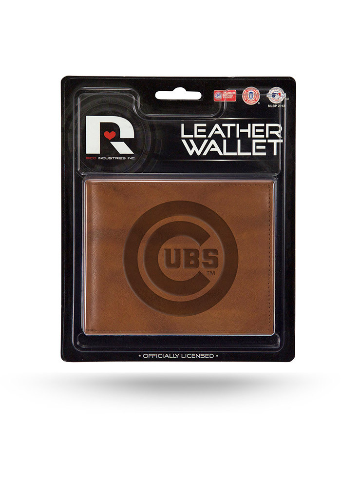 Chicago Cubs Manmade Leather Mens Bifold Wallet - Image 1