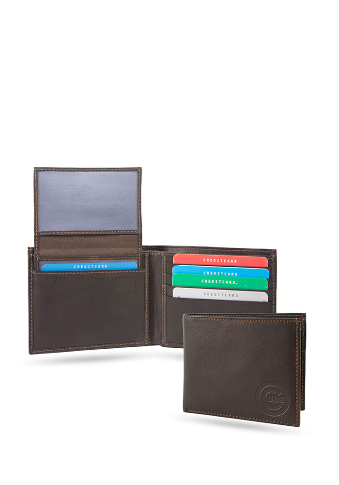 Chicago Cubs Shield Mens Bifold Wallet - Image 1