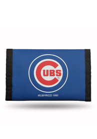Chicago Cubs Nylon Trifold Wallet - Blue