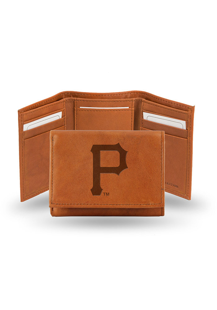 Pittsburgh Pirates Embossed Leather Mens Trifold Wallet - Image 1