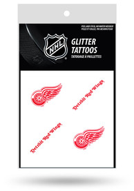 Detroit Red Wings Glitter 4 Pack Tattoo