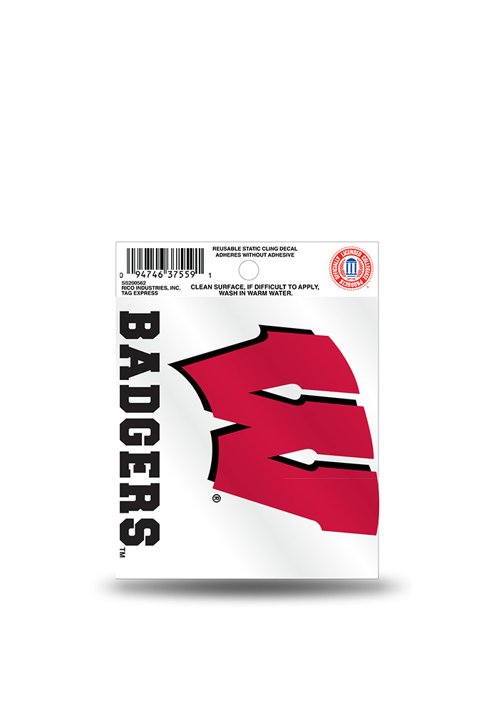 Wisconsin Badgers Small Auto Static Cling - Image 1
