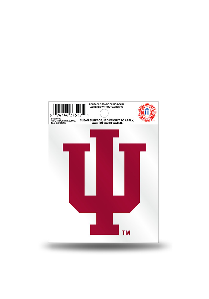Indiana Hoosiers Small Auto Static Cling - Image 1