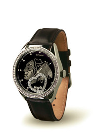 Chicago Blackhawks Womens Beat Watch - Black