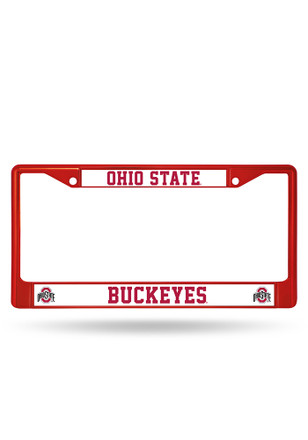 Ohio State Buckeyes Colored Chrome License Frame