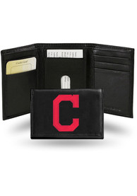 Cleveland Indians Embroidered Trifold Wallet - Black