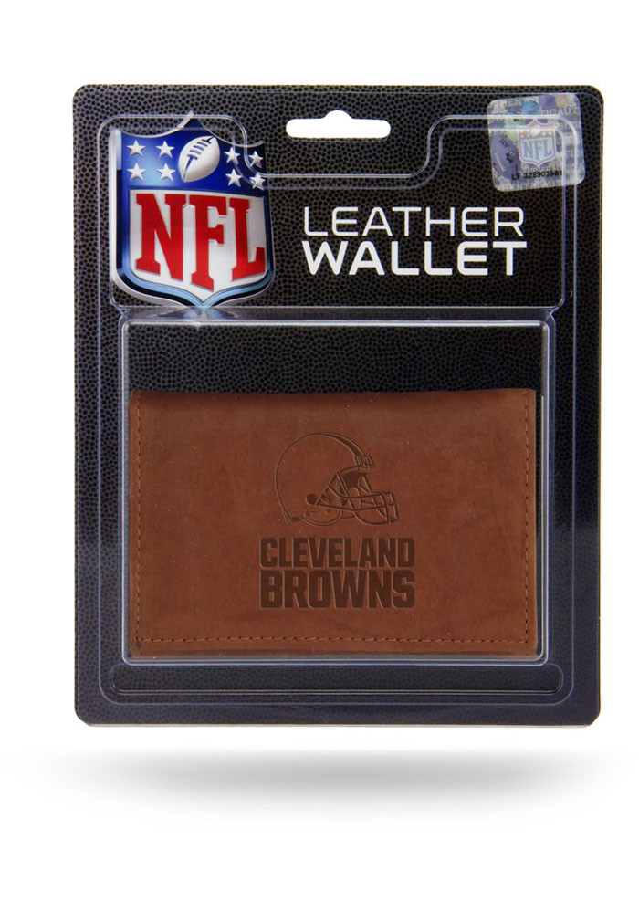 Cleveland Browns Embossed Mens Bifold Wallet - Image 1