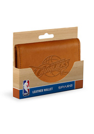 Cleveland Cavaliers Embossed Trifold Wallet - Brown