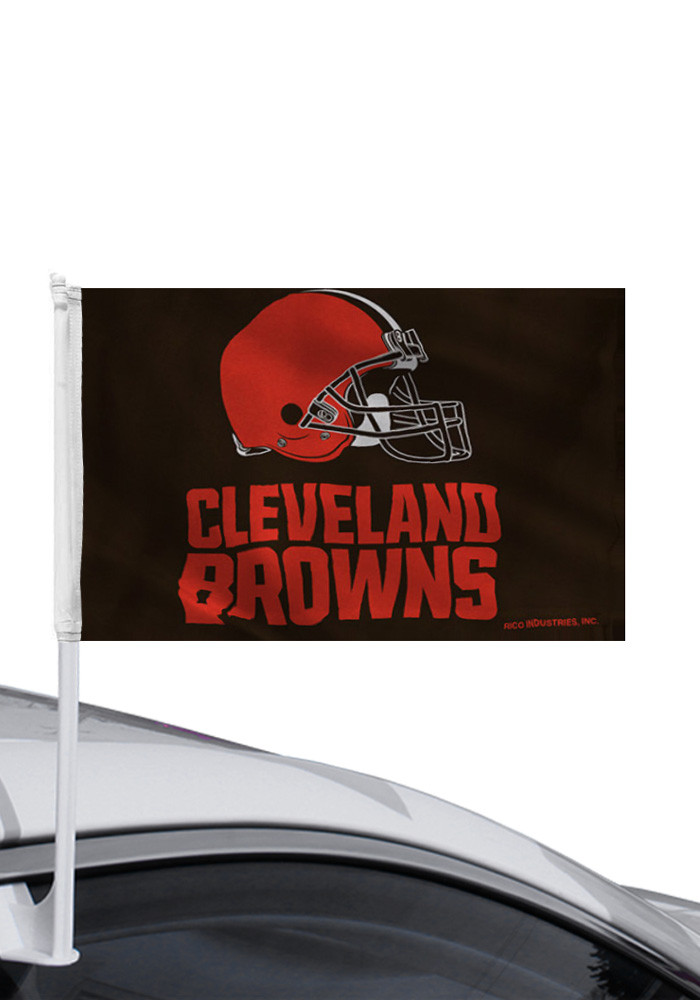 Cleveland Browns Team Logo Car Flag - Image 1