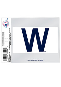 Chicago Cubs W Logo Auto Static Cling