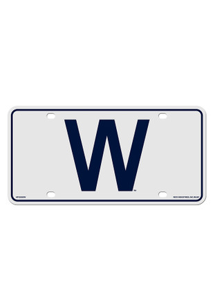 Chicago Cubs W Logo Car Accessory License Plate