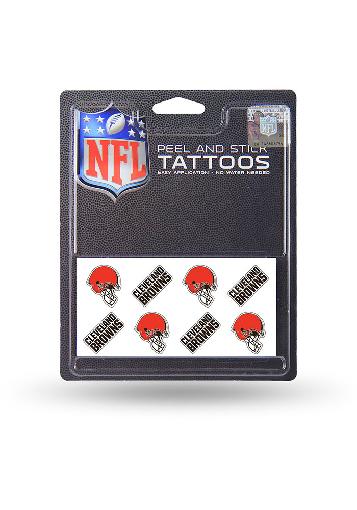 Cleveland Browns 8 Pack Peel & Stick Tattoo - Image 1