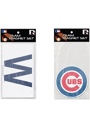 Chicago Cubs 2 Pack Car Accessory Car Magnet