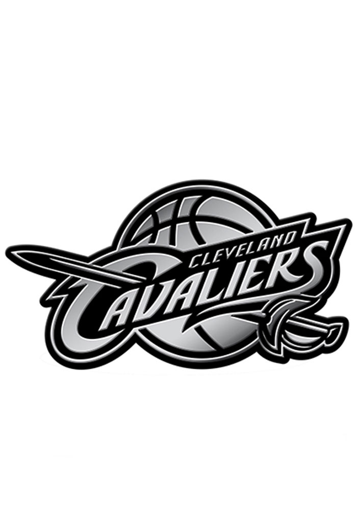 Cleveland Cavaliers Molded Car Emblem - Silver - Image 1