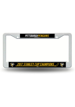 Pittsburgh Penguins 2017 Stanley Cup Champions License Frame