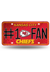 Kansas City Chiefs #1 Fan Team Logo Car Accessory License Plate