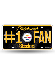 Pittsburgh Steelers #1 Fan Team Logo Car Accessory License Plate